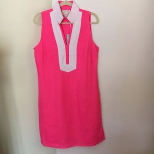 SAIL TO SABLE Tunic Style Pink /White Dress Size M